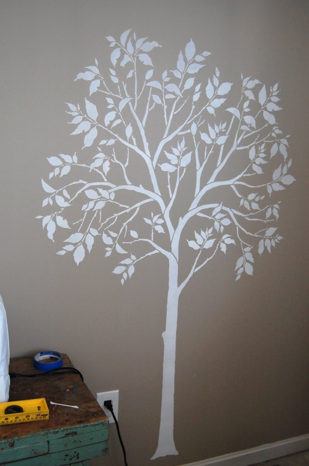 Tree Stencils for Walls Free Inspirational the Large Tree Stencil Es with A Separate Bird Stencil