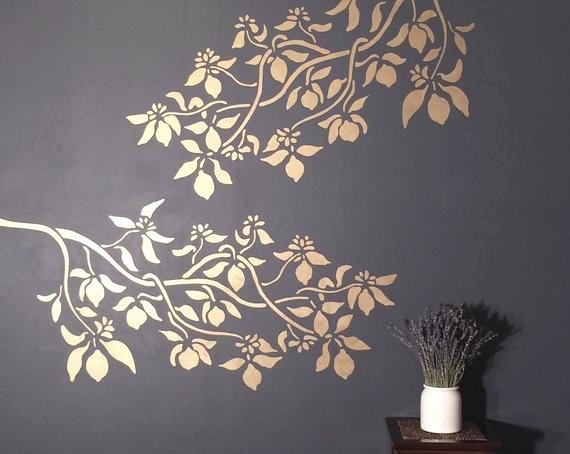 Tree Stencils for Walls Free Lovely Stencil for Walls Lemon Tree Branch Reusable Diy
