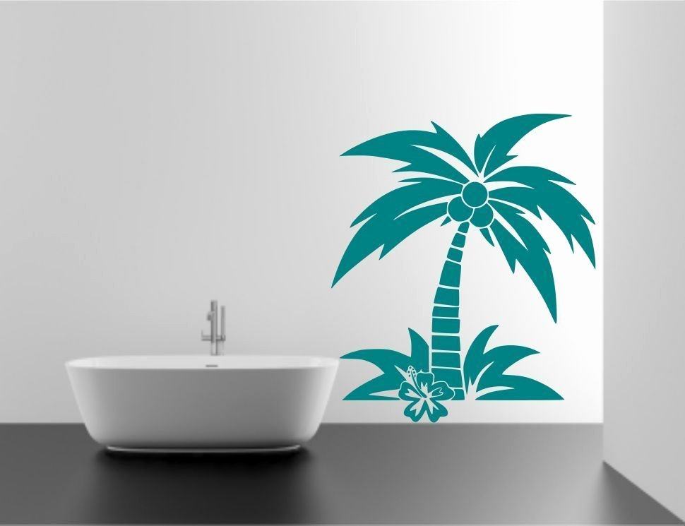 Tree Stencils for Walls Free New Coconut Palm Tree Wall Sticker Decal Mural Transfer