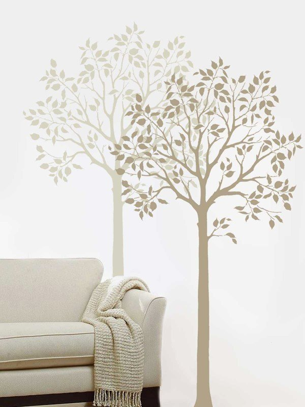 Tree Stencils for Walls Free Unique Fruit Tree Stencil Easy Reusable Wall Stencils for