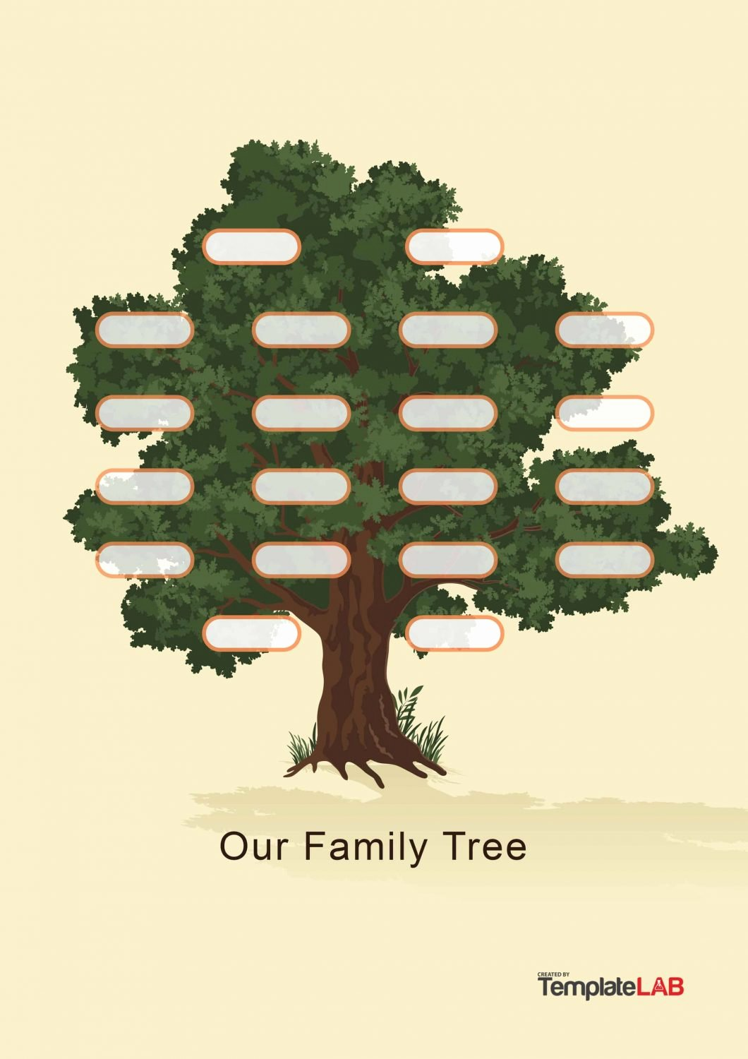 Tree Template for Family Tree Awesome 50 Free Family Tree Templates Word Excel Pdf