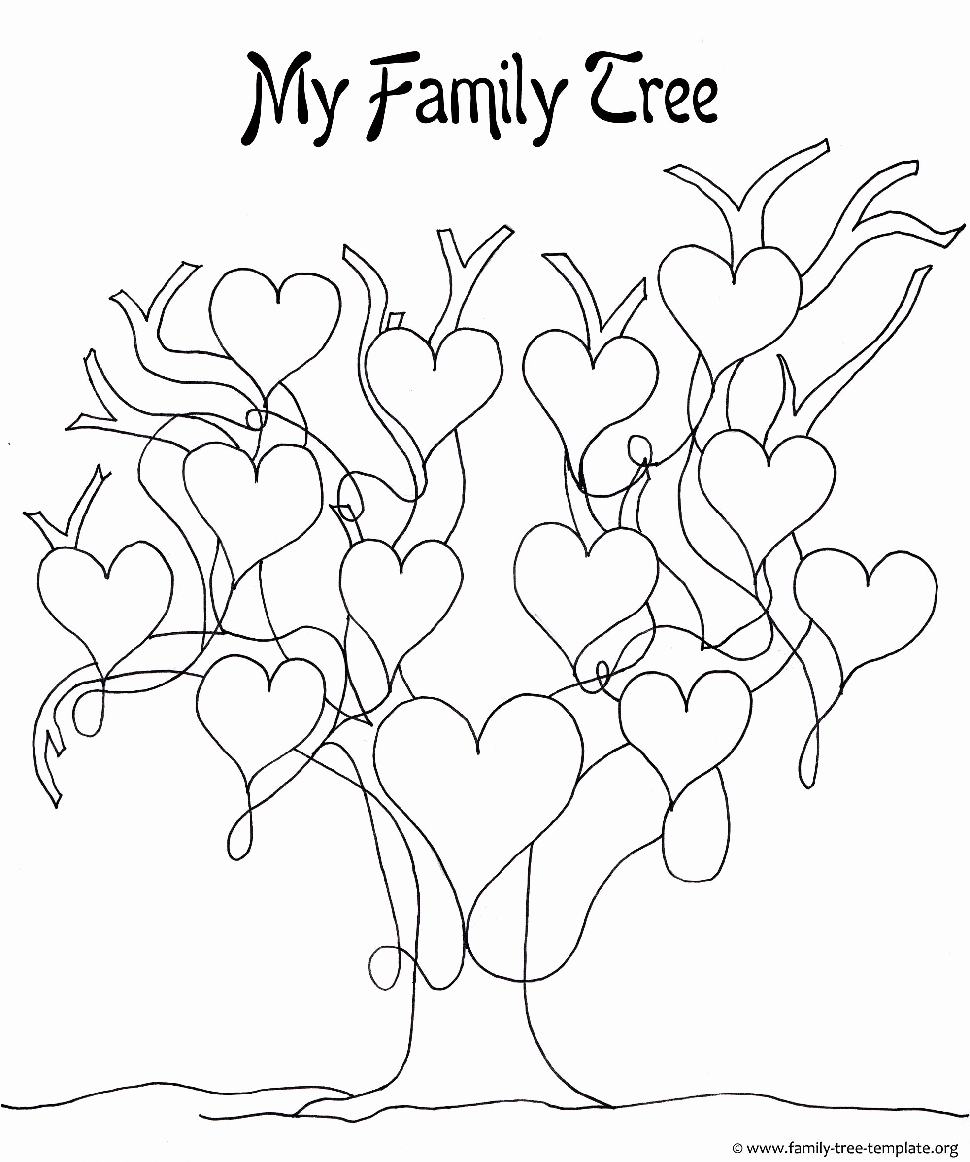 Tree Template for Family Tree Beautiful A Printable Blank Family Tree to Make Your Kids Genealogy