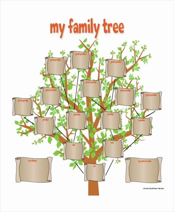 Tree Template for Family Tree Best Of Family Tree Template 8 Free Word Pdf Document