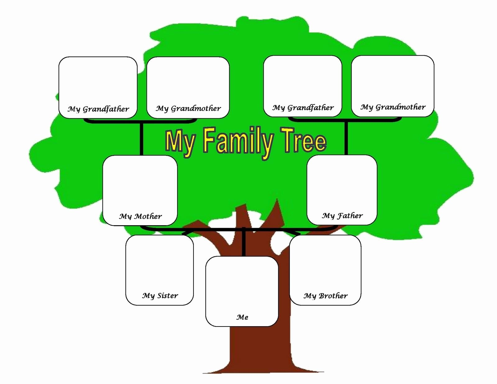 Tree Template for Family Tree Elegant Family Tree Fotolip Rich Image and Wallpaper