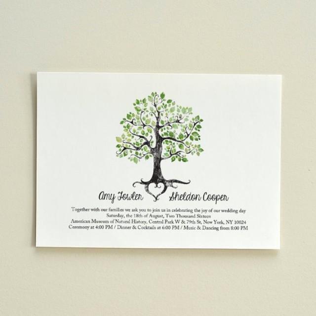Tree Wedding Invitations Templates Beautiful Wedding Invitation Rustic Woodland Tree Diy Printable