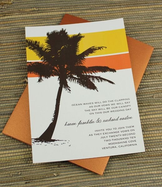 Tree Wedding Invitations Templates Elegant Palm Tree Invitation Template