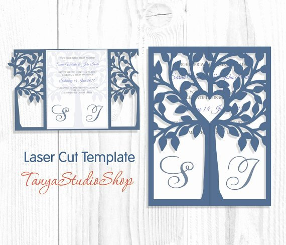 Tree Wedding Invitations Templates Fresh Wedding Invitation Svg Dxf Ai Crd Eps Png Tree