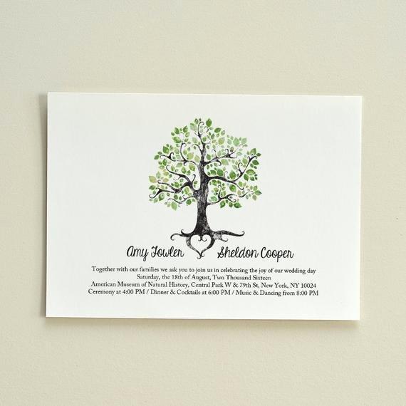 Tree Wedding Invitations Templates Lovely the Summer solstice Tree Wedding Invitation Diy Printable