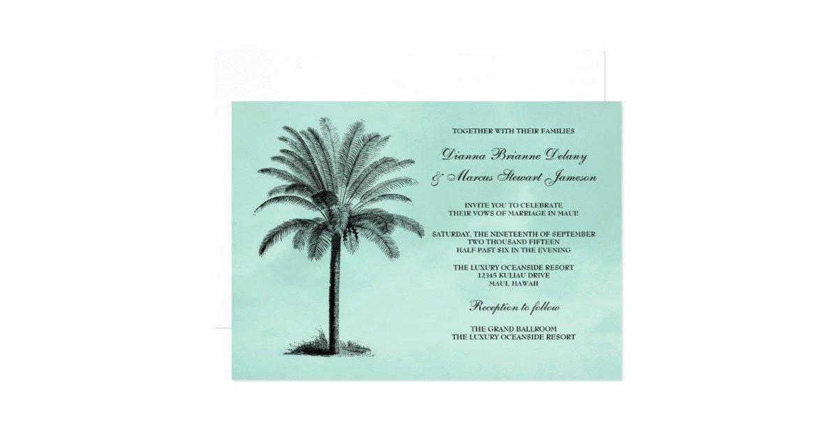 Tree Wedding Invitations Templates Luxury Palm Tree Tropical Wedding Invitation Template