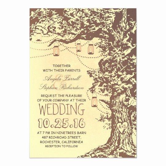 Tree Wedding Invitations Templates Unique Rustic Tree & Mason Jars Wedding Invitations