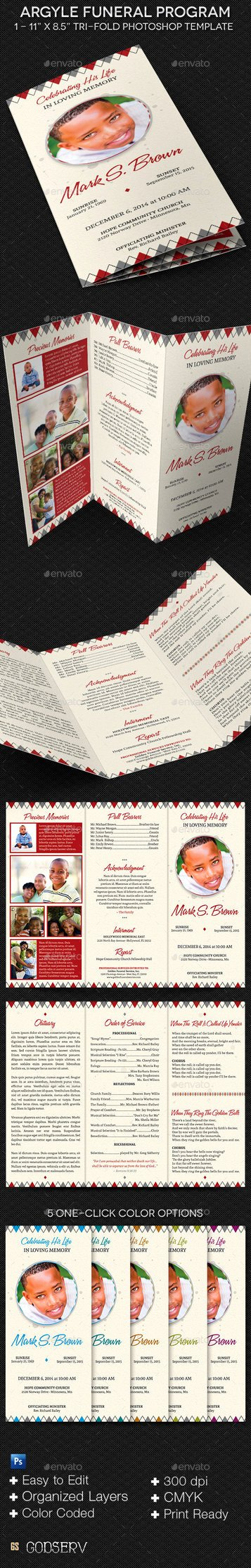 Tri Fold Funeral Program Template Awesome Argyle Tri Fold Funeral Program Template by Godserv On