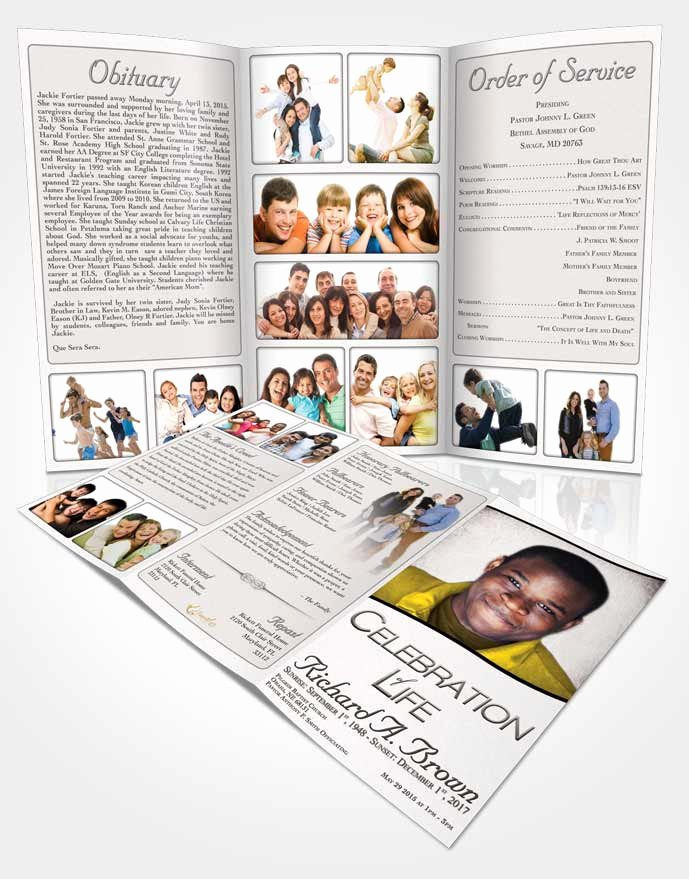 Tri Fold Funeral Program Template Awesome Obituary Template Trifold Brochure Free Bliss • Funeralparlour