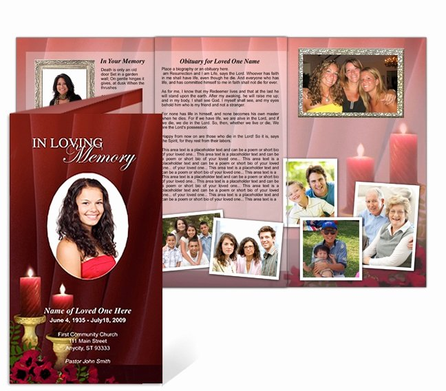 Tri Fold Funeral Program Template Best Of 214 Best Creative Memorials with Funeral Program Templates