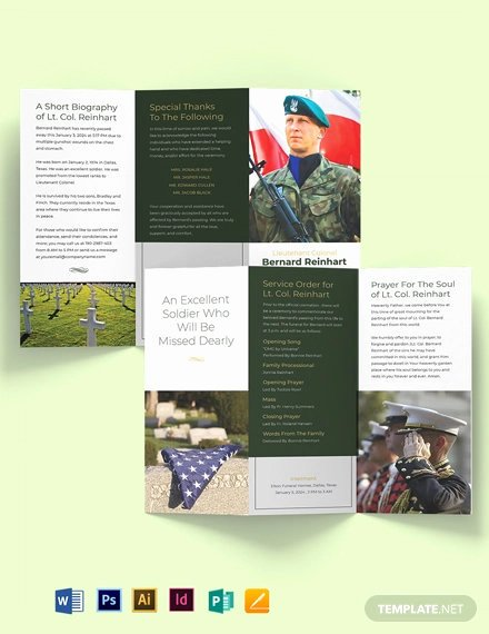 Tri Fold Funeral Program Template Best Of 26 Funeral Program Templates Word Psd Google Docs