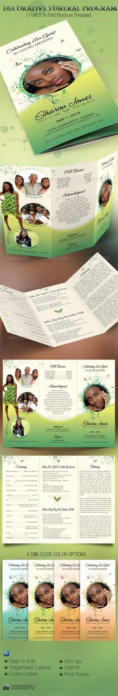 Tri Fold Funeral Program Template Best Of 79 Best Funeral Programs Images In 2019