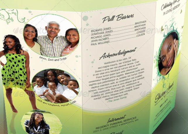 Tri Fold Funeral Program Template Elegant Decorative Tri Fold Funeral Program