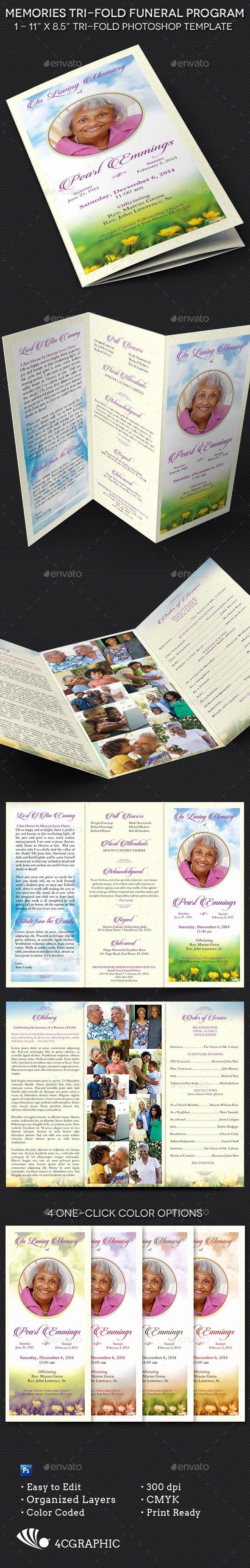 Tri Fold Funeral Program Template Fresh Memories Tri Fold Funeral Program Template