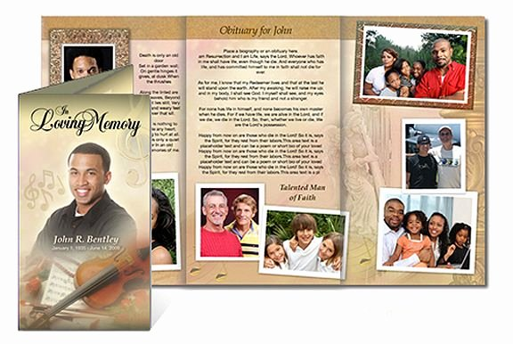 Tri Fold Funeral Program Template Inspirational Custom Funeral Tri Fold Brochure Template