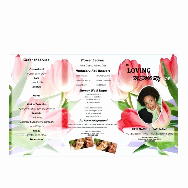 Tri Fold Funeral Program Template Inspirational Floral 5 Tri Fold Brochure Program Funeral Pamphlets