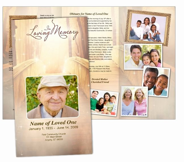 Tri Fold Funeral Program Template Lovely 46 Best Images About Funeral Programs On Pinterest