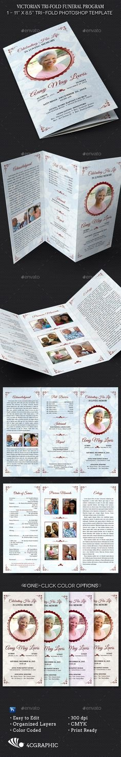 Tri Fold Funeral Program Template New Tri Fold Funeral Program Template Printable
