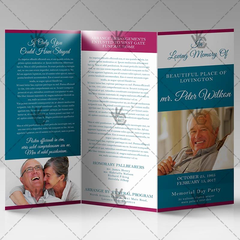 Tri Fold Funeral Program Template Unique Printable Funeral Program Premium Tri Fold Brochure Psd