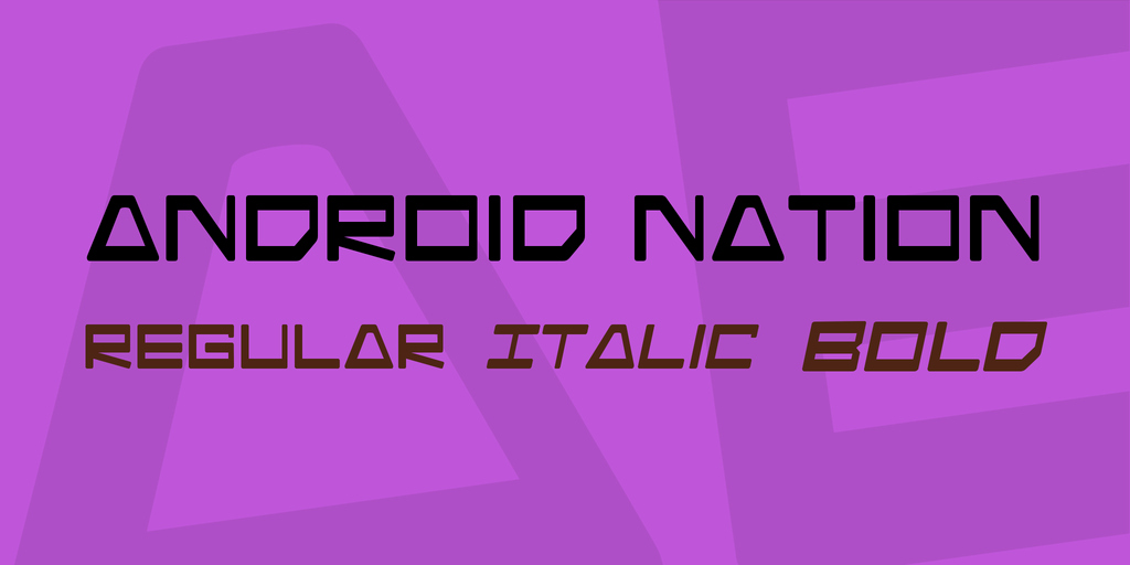 Ttf Fonts for android Lovely android Nation Font Family · 1001 Fonts