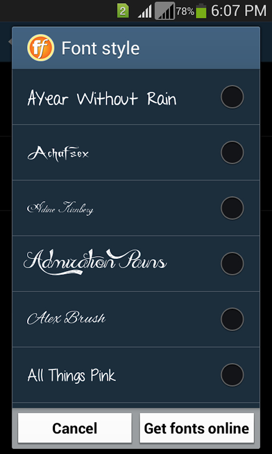 Ttf Fonts for android Lovely Stylish Fonts android Apps On Google Play