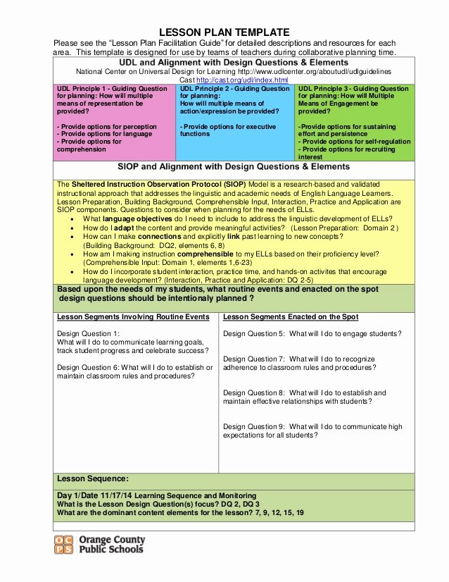 Udl Lesson Plan Template Beautiful Opinion Writing
