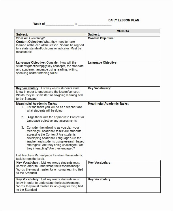 Udl Lesson Plan Template Inspirational Lesson Plan Template 14 Free Word Pdf Documents
