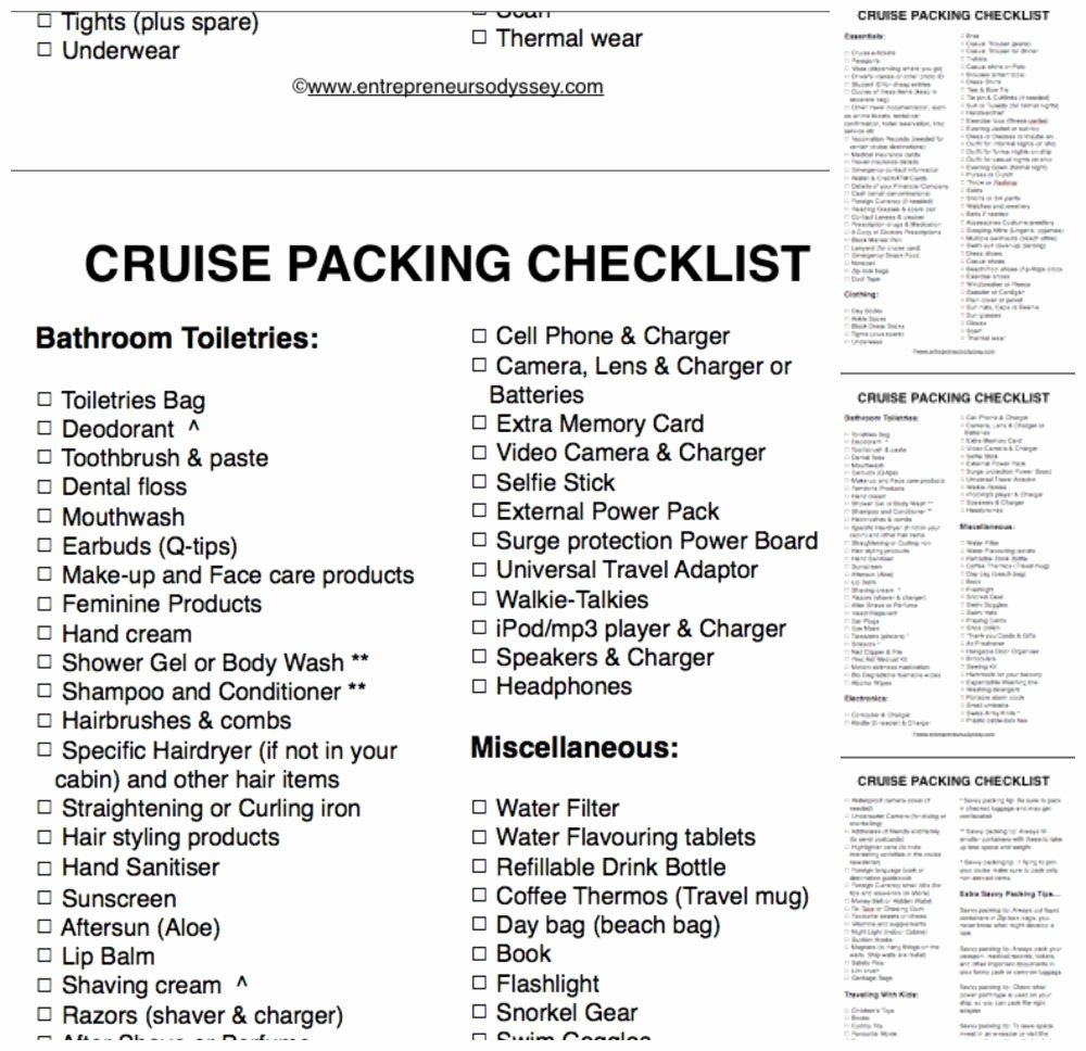 Ultimate Cruise Packing List Best Of 11 Cruise Packing Tips for the First Time Cruiser