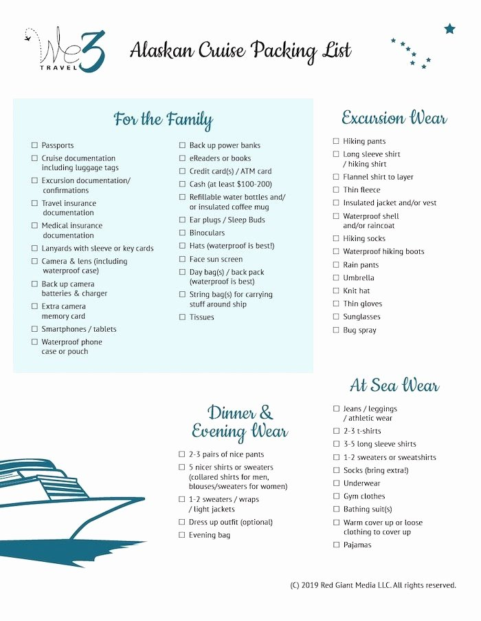 Ultimate Cruise Packing List Best Of the Ultimate Alaska Cruise Packing List [ Printable]