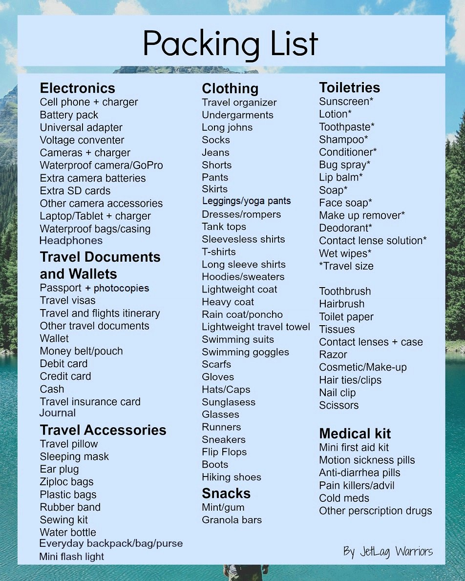 Ultimate Cruise Packing List Elegant the Ultimate Packing Checklist Jetlag Warriors