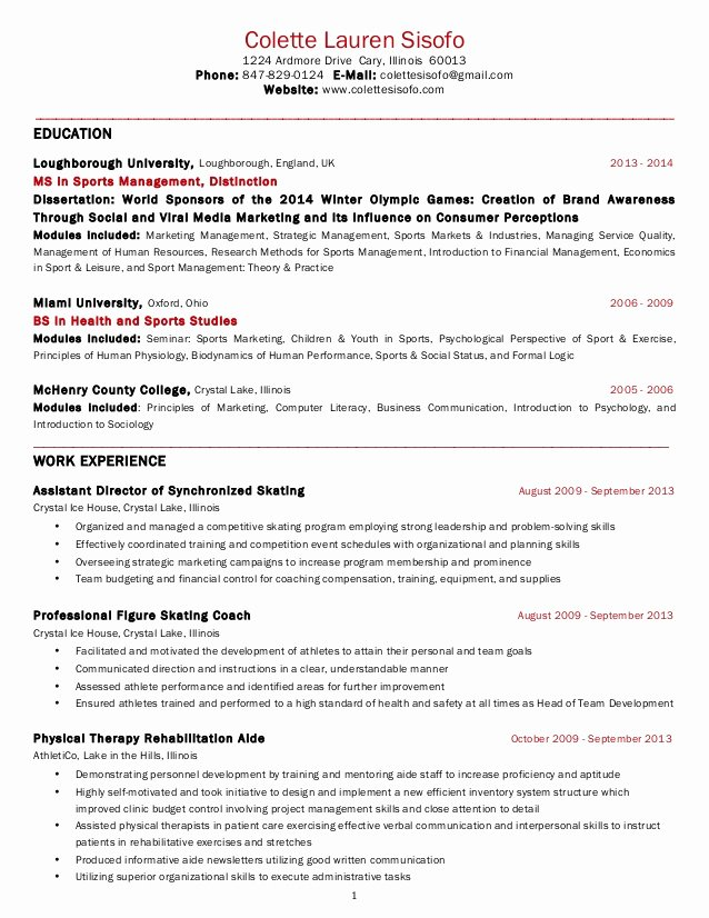 Usa Jobs Sample Resume Awesome Colette Sisofo Resume Usa 2014