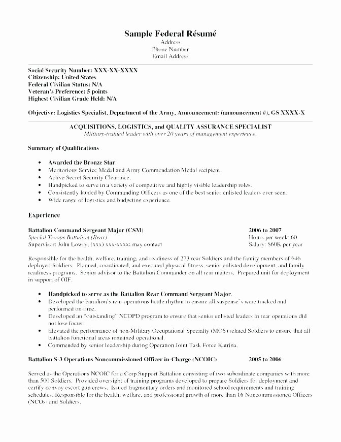 Usa Jobs Sample Resume Fresh 9 10 Usa Jobs Cover Letter Examples