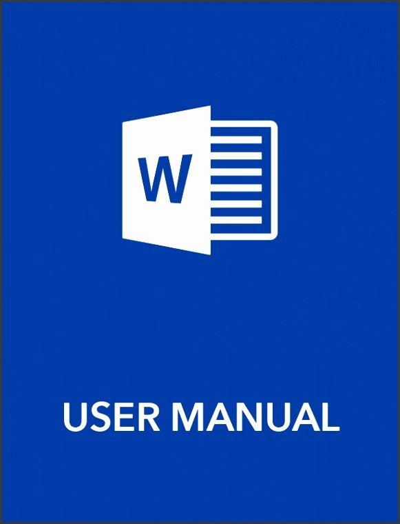 User Guide Template Word Beautiful 6 User Manual Template Sampletemplatess Sampletemplatess