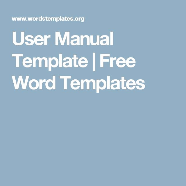 User Guide Template Word Beautiful User Manual Template Free Word Templates