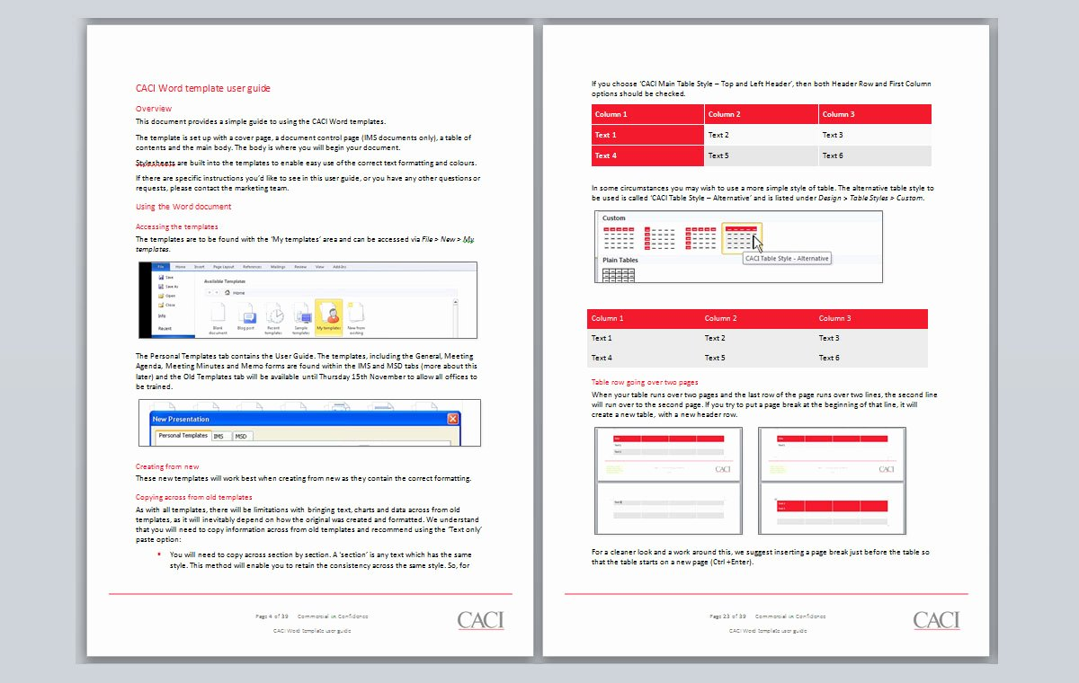 User Guide Template Word Unique Caci Microsoft Word and Powerpoint Templates
