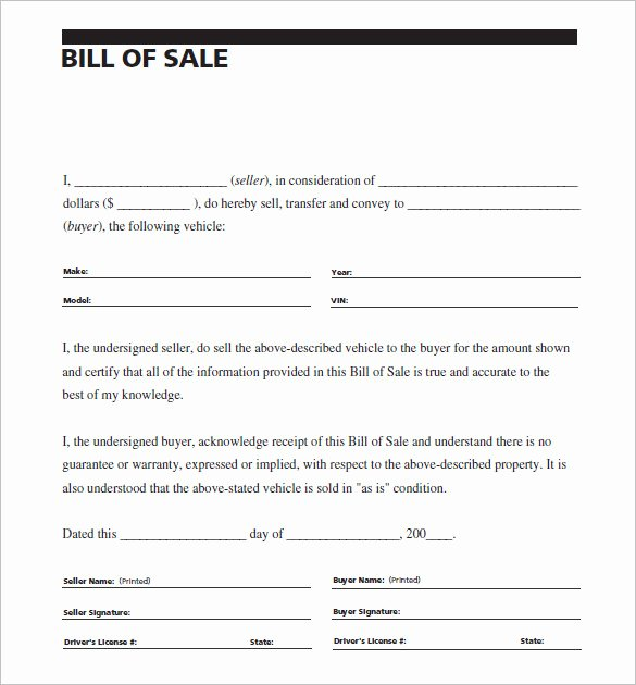 Vehicle Bill Of Sale Example Lovely 8 Auto Bill Of Sale Doc Pdf