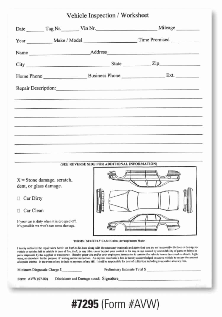 Vehicle Condition Report form Best Of Vehicle Condition Report Templates