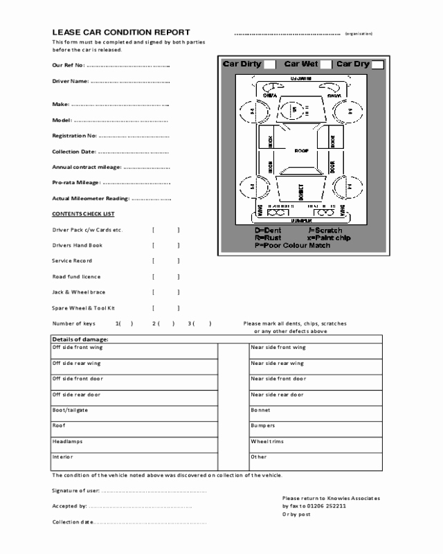 Vehicle Condition Report form Elegant 2019 Vehicle Condition Report form Fillable Printable