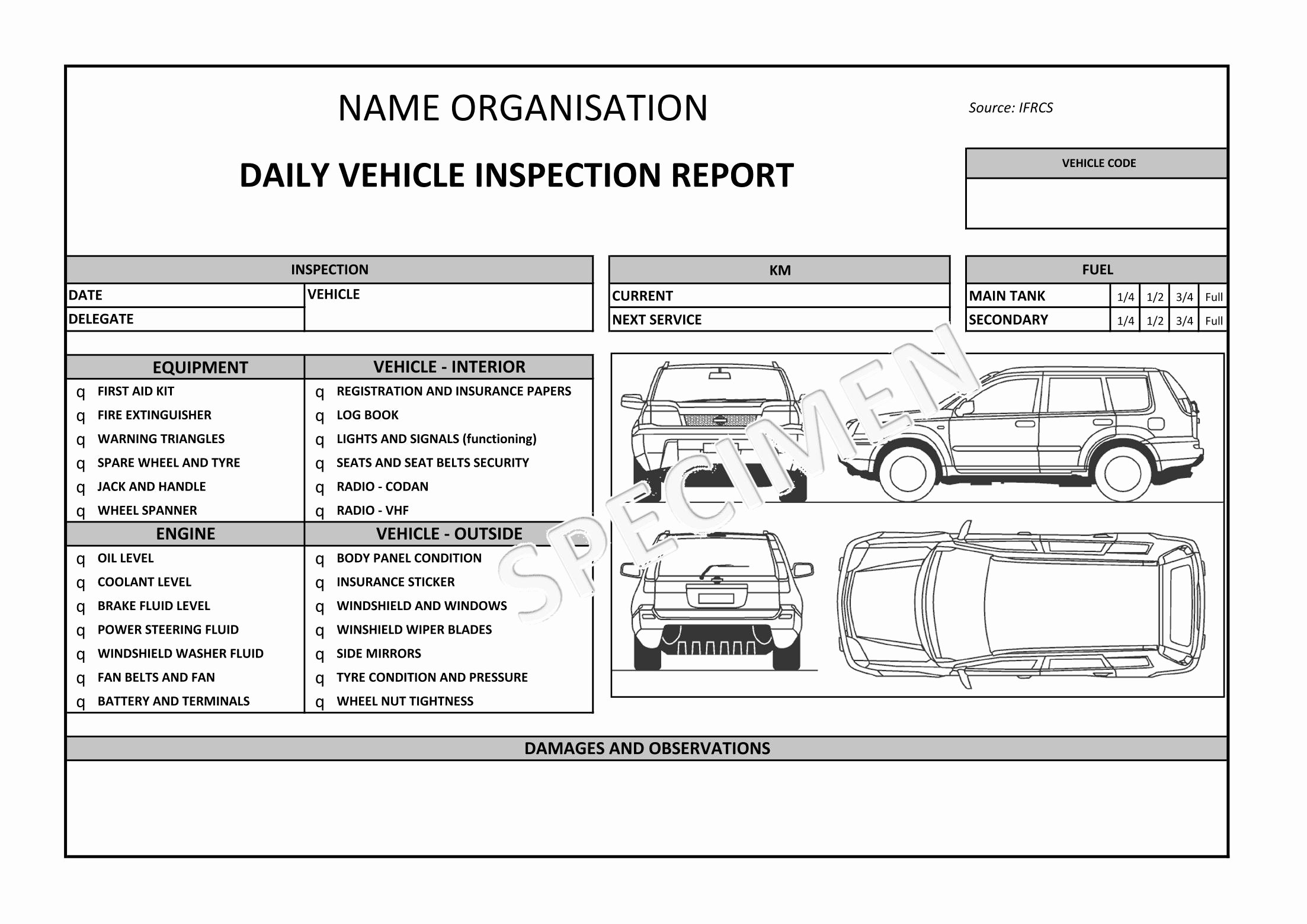 Vehicle Condition Report form Fresh Auto Condition Report Templates Windowswinner