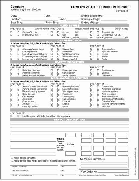 Vehicle Condition Report form Inspirational Driver S Vehicle Condition Report
