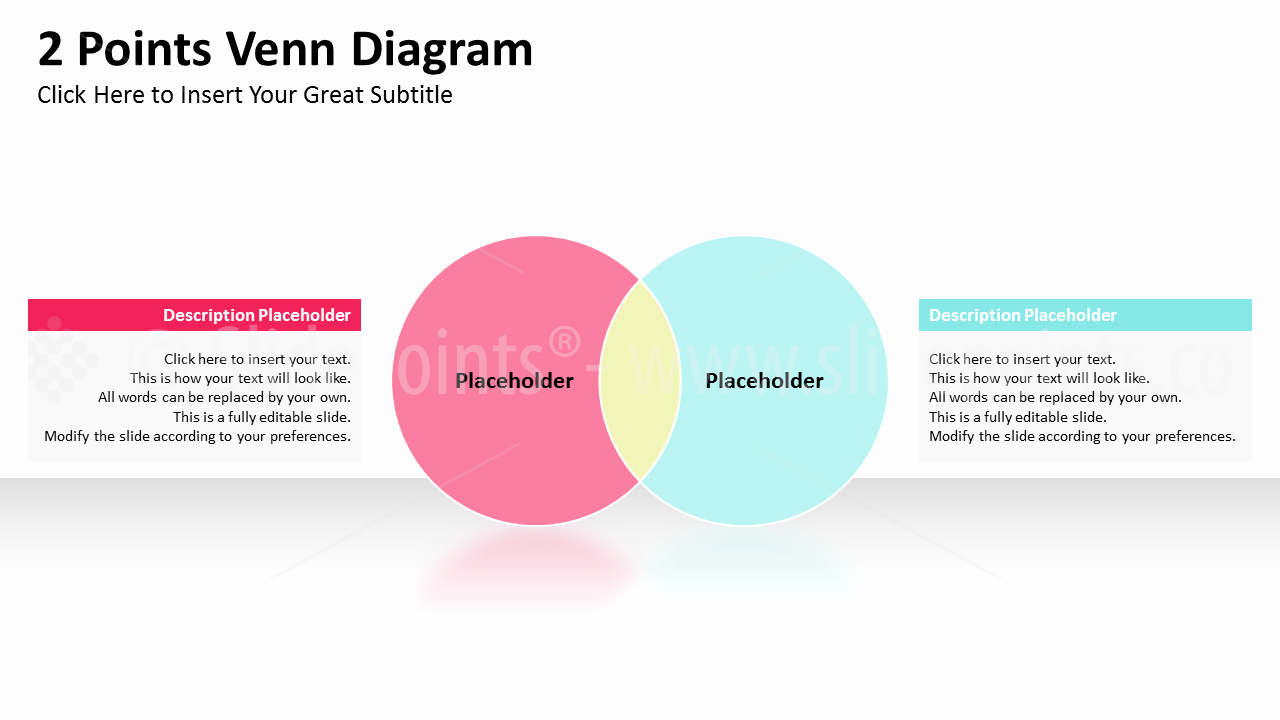 Venn Diagram Template Editable Elegant Venn Diagrams Powerpoint