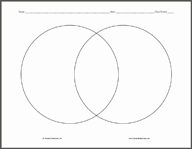 Venn Diagram to Print Fresh Venn Diagram Free Printable Pare and Contrast