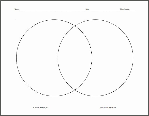 Venn Diagram to Print Inspirational Printable Venn Diagram Template