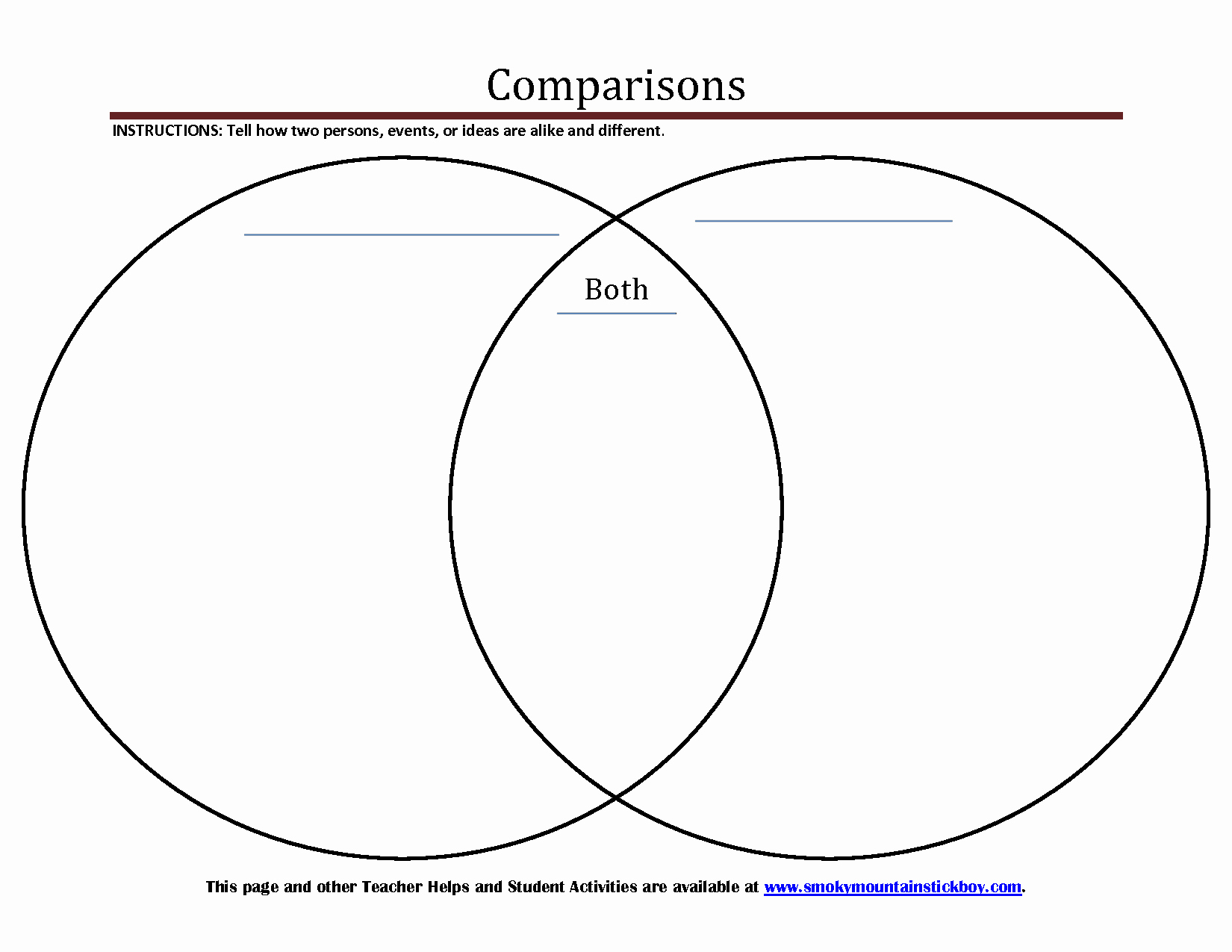 Venn Diagram to Print Unique Colored Venn Diagram