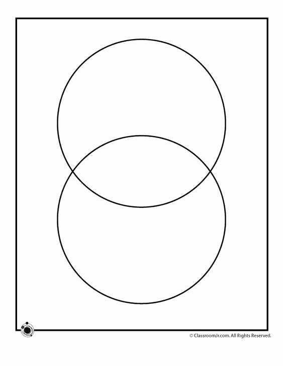 Venn Diagram to Print Unique Printable Blank Venn Diagrams 2 Circle Venn Diagram