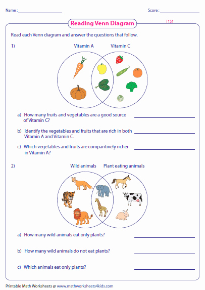 Venn Diagrams Worksheet Best Of Venn Diagram Word Problems Worksheets Two Sets