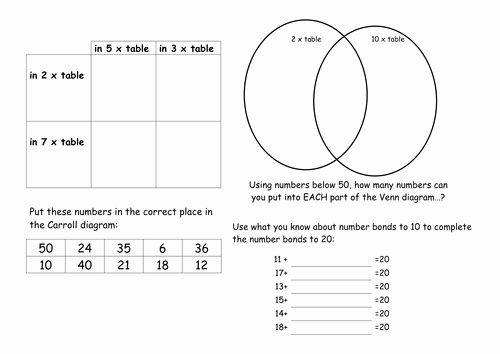 Venn Diagrams Worksheet Fresh Venn and Carroll Diagrams by Stuffedcrust Teaching